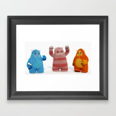 Yeti Attack Framed Art Print