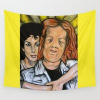 mask Wall Tapestries featuring Mask  by Portraits on the Periphery