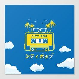 City Pop Summer theme (blue) Canvas Print