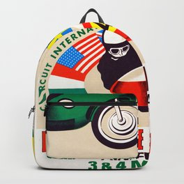Bourg in Bresse , 23rd international circuit Of speed 1975 Backpack