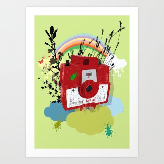 Vintage Camera Imperial Mark  VII Flash Art Print