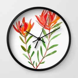 Safari Sunset - Conebush Wall Clock