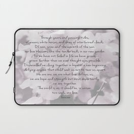 Through years and passing tides Laptop Sleeve