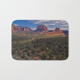 Bell Rock Courthouse Butte of Sedona Panorama Bath Mat