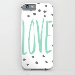 Love dot com — mint iPhone Case