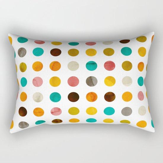 Autumnal polka dot Rectangular Pillow