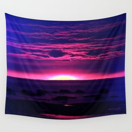 Incredible Sunset by the Sea Wall Tapestry