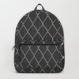 Black Grid Wire Backpack
