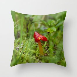 Little Red Mushroom II by Althéa Photo Throw Pillow