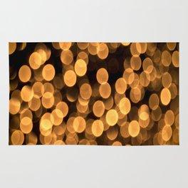 Golden Bokeh Light On A Black Background #decor #society6 Rug