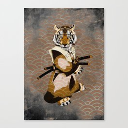 Tiger Samurai Ronin Canvas Print