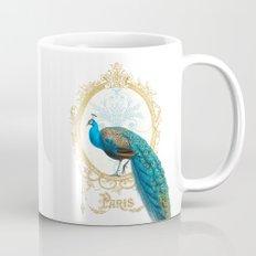 Paris Peacock Coffee Mug