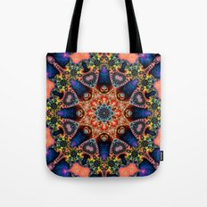 BBQSHOES: Kaleidoscopic Fractal Digital Art Design 1702K Tote Bag