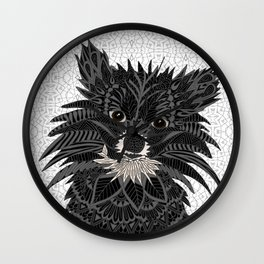 Pomeranian Puppy 2016 Wall Clock