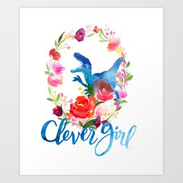 Clever Girl Art Print
