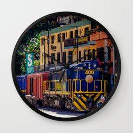 Peru Rail Train - Aguas Calientes Wall Clock