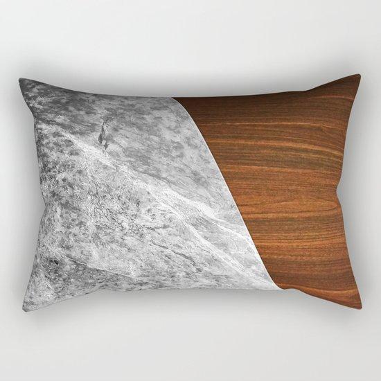 Wooden Marble Rectangular Pillow