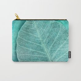 Turquoise Leaf 2 Carry-All Pouch