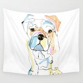 Bulldog Colour Wall Tapestry