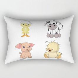 Cute Farm Animals Rectangular Pillow