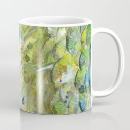 Peacock Watercolor Painting | Exotic Birds Coffee Mug