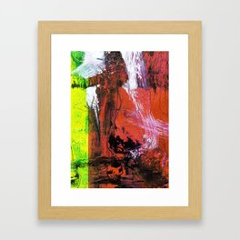 Getting Warmer // abstract painting Framed Art Print
