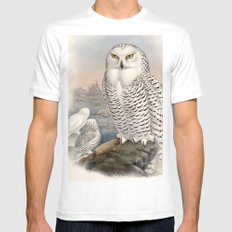 Snowy Owl MEDIUM Mens Fitted Tee White
