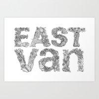 East Van Art Print