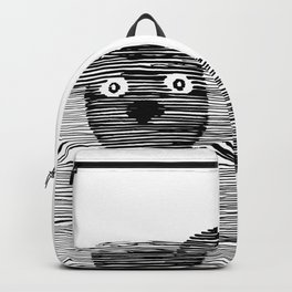 Cute puppy. Backpack