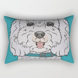 Icons of the Dog Park Bichon Frise  Design in Bold Colors for Pet Lovers Rectangular Pillow