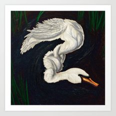 Gwen was a Swan Art Print