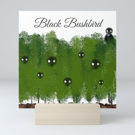 Black Bushbird Mini Art Print