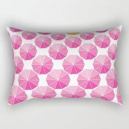 Receding Umbrellas Rectangular Pillow