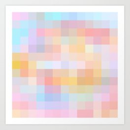 Re-Created Colored Squares No. 24 by Robert S. Lee Art Print
