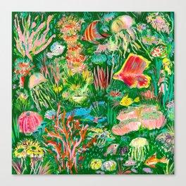 It's a sea green world Canvas Print