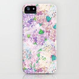 Pastel Purple and blue Lilac & Hydrangea - Flower Design iPhone Case