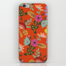Funky Red Floral iPhone & iPod Skin