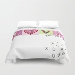 LOVE letters - LOVE you heaps Duvet Cover