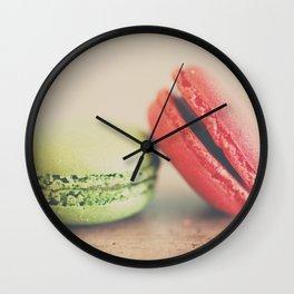 pistachio & strawberry ... Wall Clock