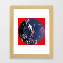 Koi Fish Red Framed Art Print