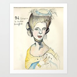 Portrait of the Duchess of Beauford Art Print