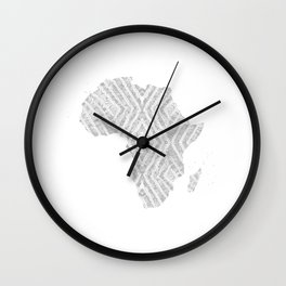 Africa in Light Grey Wall Clock