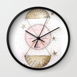 Pink Moon In Libra Wall Clock