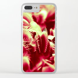 Carnivorous beauty Clear iPhone Case