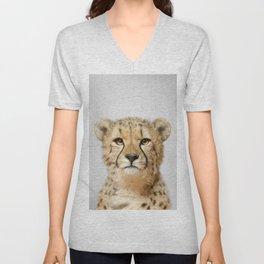 Cheetah - Colorful Unisex V-Neck