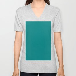 Teal Green Unisex V-Neck