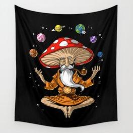 Buddha Magic Mushroom Wall Tapestry