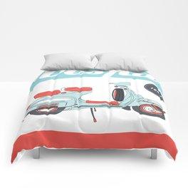 La Dolce Vita - 2 - Vespa poster Comforters