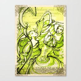 Merry Wives of Windsor - Shakespeare Folio Illustrations Canvas Print