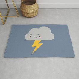 Kawaii Thunder & Lightning Cloud Rug